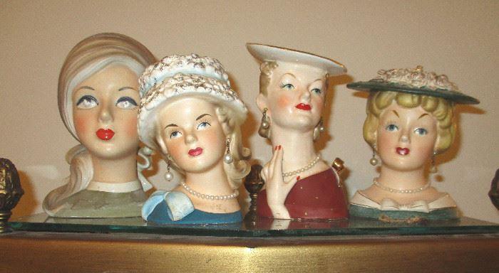 Relpo Head Vases