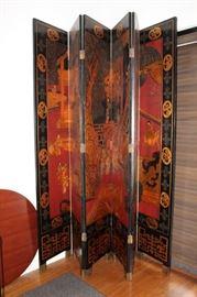 6 Panel Oriental Screen