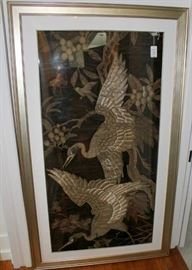 Embroidered Metallic Panel from France