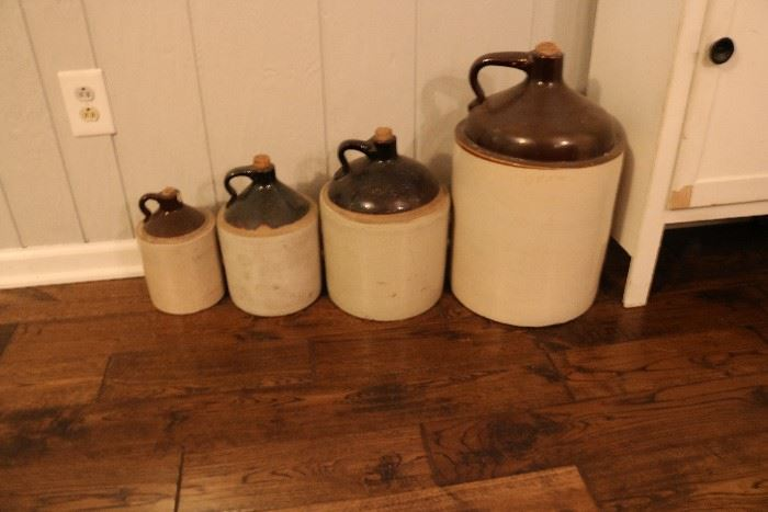 Beautiful set of antique crocks