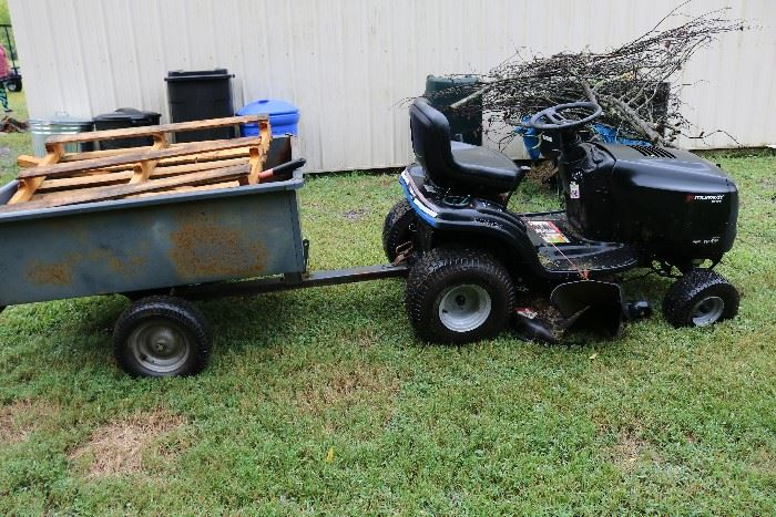Murray riding mower. Works great. Has one tire that could be replaced.