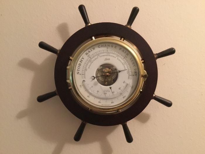 Schaff barometer ship wheel