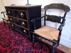 CLASSY CHEST WITH FAUX STONE TOP AND HIDE SIDES