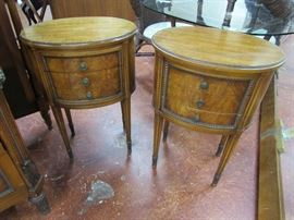 French Style 5 Pc. Bedroom Set end tables