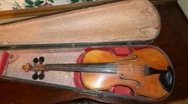 vintage Hopf violin in original wooden case
