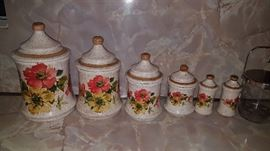 These are so pretty!  Vintage canister perfection