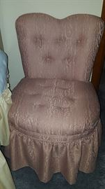 Sweet little pink slipper chair,