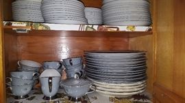 One of 3 sets of china