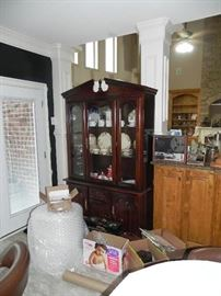 Dining Room China Closet Down to Floor,