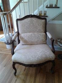 French bougiere chair, one of a pair