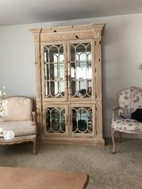 beautiful curio or china cabinet