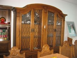 Wide China Cabinet, Pecan, Mediterranean