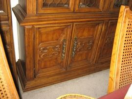 Wide China Cabinet, bottom doors