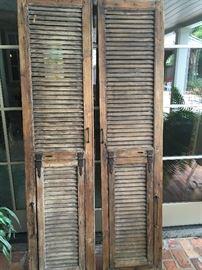 Pair of Very Old Cypress Doors