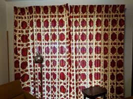$20  Vintage 2 panel curtains