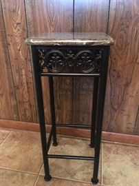 Marble top side table or plant stand. $40