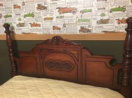 Antique full bed. Headboard & footboard. $400