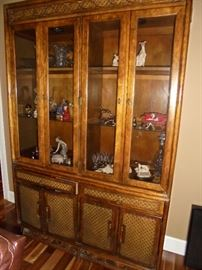 Glass front hutch  lighted