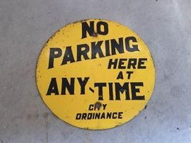 Vintage Metal No Parking Sign