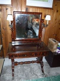 Vintage Mahogany Clawfoot  Dressing Table