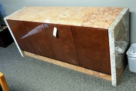 """Marble Credenza, 33.5""""H x 76""""W x 20.5""""D"""
