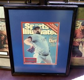 """Framed Sports Illustrated Covers, Includes Babe Ruth, David Wells, Tiger Woods, Bill Russell And More, 18"""" x 15.5"""", Qty 5"""