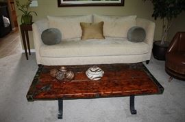 Original 1930's WWII ship's hatch door coffee table. These are becoming very tough to find.