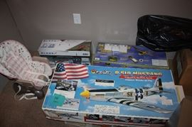 Model planes and misc items.