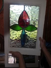Homemade stained glass. Many windows to chose from.