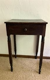 Early primitive one drawer side table