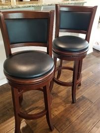 Pair of bar stools with swivel seats