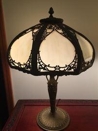 Vintage Slag Tiffany style lamp