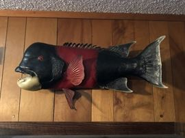 """This Sheeps Head is  one  of 4 very nice examples of quality fish mount  taxidermy in this house. This one is roughly 32"""". Great conversation piece."""