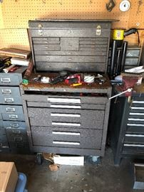 Kennedy Tool Chest on wheels, empty. Price is $350. Interested parties can pay in advance through PayPal.