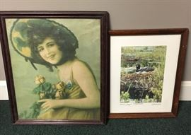 Framed Loon Photo & Vintage Picture       http://www.ctonlineauctions.com/detail.asp?id=746653