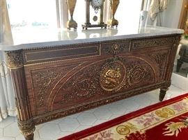 Magnificent Empire-  Napoleon Buffet- with marble top  -All these pieces were purchased in an art gallery in Italy