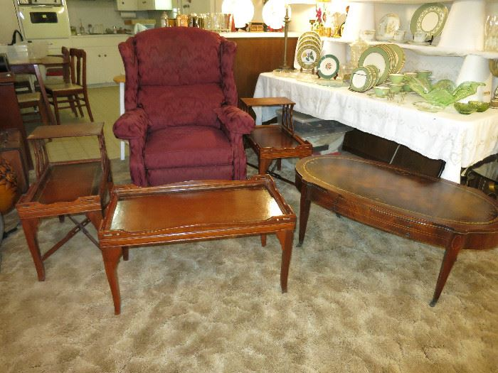 Leather Top End Tables And Coffee Tables