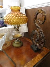 Vintage Lamp And Mosaic Style Capital S!