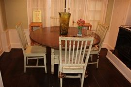 Round Table with 4 Spindle Back Chairs