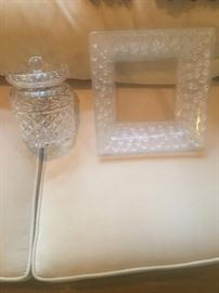 Waterford Jar and Lalique Frame