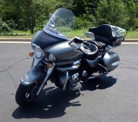 2010 Kawasaki VN1700AC Vulcan Voyager Motorcycle, 14,598 Miles, Vulcan V-Twin 1700 Engine, VIN # JKBVNRA10AA004361