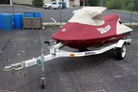 "1998 Sea Doo GTX LTD, VIN# ZZN88237C898 Jet Ski with Cover, 1998 Tow Go Trailer, 10'4"", 143 Hours, Uses Premix Fuel"