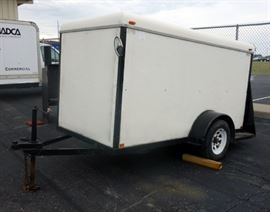 "1996 Blair Trailers 5' x 10' Enclosed Trailer, Corner Eyelets, 2"" Hitch, VIN # 1B9BCBC16T1072312"