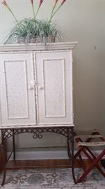 Front of Armoire & Luggage Holder