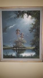 "Highwaymen  Sam Newton signed ""Moonlight Over Water"" Taking bids"