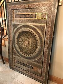 "(1 of 2 pictures.) 60"" x 40"". Architectural statement piece. Heavy. Pics don't do it justice. Priced at $1,500 (retail). Estate sale price: $495"