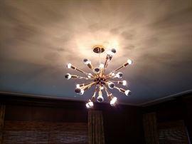Brass Starburst chandelier