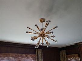 Starburst chandelier