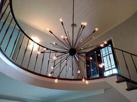 Large Starburst chandelier