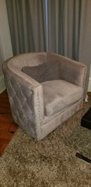 Newer Upholstered Chair with Quilting